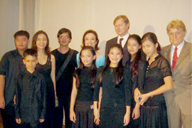 IYO members with Austrian ambassador Herbert Jaeger (center) and guests at Opening Gala
